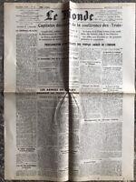 N63 La Une Du Journal Le Monde 14 Février 1945