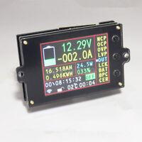 DC Wireless Multimeter 120V 0-500A Voltmeter Ammeter Power Capacity Time Meter