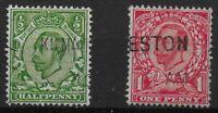 SG346 & 350. 1/2d. & 1d. Wmk.M/C. Fine Used With Good Colour. Cat.£18. Ref:06123