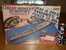 WW#2, U.S.S. MISSOURI BATTLESHIP & DIORAMA SEASCAPE BASE, PLASTIC MODEL KIT