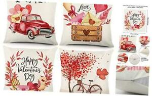 Valentine's Day Pillow Covers 18x18 Inch Set of 4 Valentine Decorations