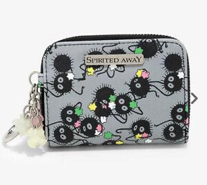 Studio Ghibli Spirited Away Soot Sprites Mini Flap Wallet W/ Charms