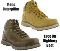 CAT Caterpillar Highbury Leather Mens Ankle Walking Chukka Boots Size 7-12