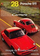 1984 Porsche 911 Carrera and 356 -  Original Advertisement Print Art Car Ad J712