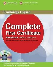 Complete First Certificate Workbook with Audio CD by Thomas, Barbara