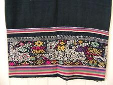 LAOS Vang Vieng embroidery Vintage hemp Indigo sarong tube skirt