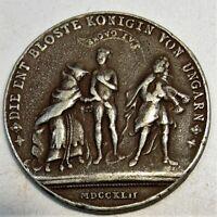 M10 Habsburg RDR Bronze Spottmedaille Maria Theresia Evakostüm 1742 Dm 40mm 22g