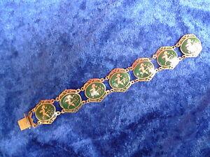 edles ,altes Armband , 925 Silber , emailliert , verziert , Thailand , Siam  !