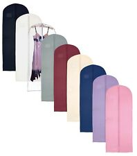 Hoesh Breathable Long Zipped Bridesmaids Gown Clothes Dress Cover Garment Bags