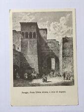 Cartolina Perugia Porta Urbica Etrusca o Arco di Augusto