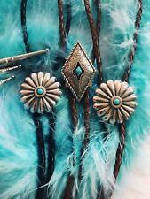 """""""Diamondback"""" Turquoise Bolo Tie"""