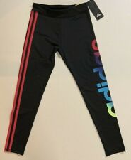 NWT ADIDAS Youth Girls Kids Tight Legging 3 Stripe Logo Size 6,7/8,10/12,14,16