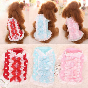 Teacup Chihuahua Dog Clothes Dress Yorkie Puppy Outfit Pajamas Shirt XXXS XXS