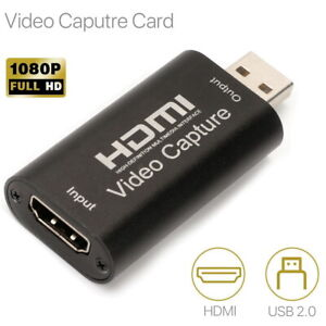 HDMI Video Capture Card USB 2.0 1080p HD Recorder for Video Live Streaming Game