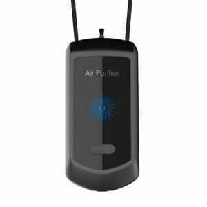 Personal Air Purifier Wearable Necklace Portable Freshener Remove Polluted Black