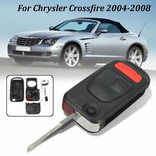 3 Buttons Remote Flip Key Fob Case Replacement For Chrysler Crossfire 2004-2008