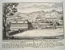 Schinznach Bad Schenkenberg Aargau  Schweiz Kupferstich von Herrliberger 1758 11