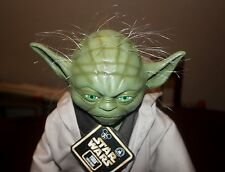 "Rare Star Wars Yoda Figure Star Tours 17"" Fully sculptured latex face hands feet"