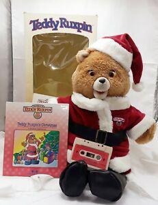 Teddy Ruxpin Santa ORIGINAL BOX Christmas Tape Book Original Box WORKING 1985