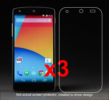 3x Nexus 5 Anti-Scratch Screen Protector w/ cloth