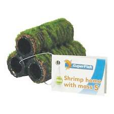 Superfish Shrimp Home Tubes Artificial Moss Pyramid Hide Cave Decor - Small