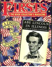 FIRSTS 2/09, rare US book collector mag, Abraham Lincoln, Lincoln rare books