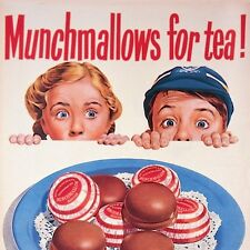 Coaster MUNCHMALLOWS FOR TEA! Vintage Retro Household Brands gift New