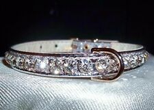 Rhinestone Dog Collar Bling Crystal Jewels Choice of 16 Colors Small & xs Pets