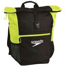 Speedo Team Rucksack III Max Gym School Swimming Backpack Black / Yellow