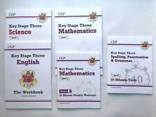 Year 9 KS3 Maths English & Science Workbook Pack with Answers Kids Age 13-14