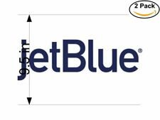 jetblue logo 2 Stickers 9.5 Inches Sticker Decal