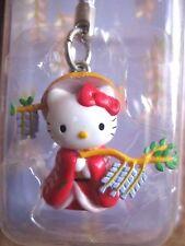 Sanrio Hello Kitty KABUKI Hujimusume Charm Mascot Cell Phone Strap Japan New