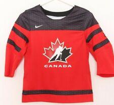 NEW Canada IIHF Black Leaf Mesh Patch Nike Team Ice Hockey Jersey Youth 7