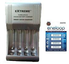 AA/AAA FAST 509 BATTERY CHARGER + 4 x AAA SANYO ENELOOP