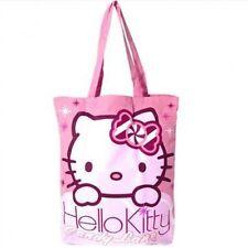 """ORIGINALE SANRIO Hello Kitty' Candy corsia """"COTONE TOTE shopping bag borsa da viaggio palestra"""