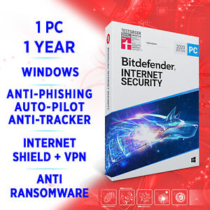 Bitdefender Internet Security 2021 1 PC 1 year, Activation Key FULL EDITION +VPN