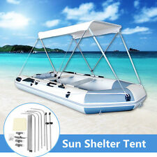 Outdoor Rubber Boat Canopy Fishing Sun Shelter Awning Sunshade Tent For 2 Person