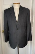 Brooks Brothers Madison 1818 Grey Pinstripe Wool Suit Jacket 42S Italy