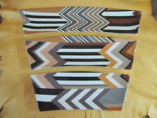 Missoni for Target Set of 3 Serving Trays Chevron Plate Brown White Stoneware
