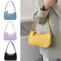 Women Mini PU Bag Vintage Subaxillary Soft Leather Tote Shoulder Bag Retro Purse