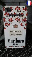 ★★★ Coque Plastique Rigide Apple IPHONE 4 - Malboro Cigarettes Fumé Clope ★★★
