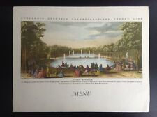 Ancien menu French Line SS Flandre 1960 BE +