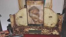 rare,grand & ancien présentoir publicitaire en tôle Polaroid glass 1950 sol amor