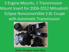 3 Engine & 1 Transmission Insert Mount for 2006-2012 Mitsubishi Eclipse 3.8L