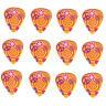 12 Pack PEACE LOVE HIPPIE SWIRL MUSHROOMS Medium Gauge 351 Guitar Picks Plectrum
