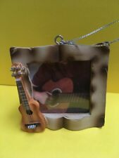 Holiday Style Silver Colored Guitar Photo Frame Christmas Tree Ornaments Decor