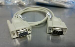 D32 - LOT OF 28! Cables2Go 3ft DB9 Male-Female Extension RS232, 25201, 5090-6420