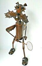 Scrap Recycled Metal Art Figure Dog Tennis Player Sculpture Indoor Outdoor 20