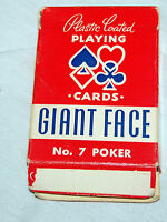 Vintage Arrco Giant Fase No 7 Linen finish Playing Cards Chicago USA