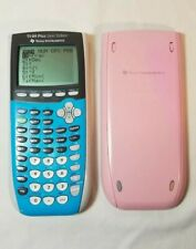 TI-84 Plus Silver Edition Graphing Calculator Blue Pink Cover Texas Instruments
